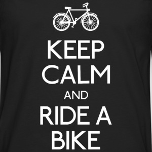 keep calm bike Camisetas - Camiseta de manga larga premium hombre