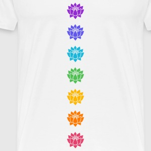 Lotus Chakras, Cosmic Energy Centers, Evolution    Topper - Premium T-skjorte for menn