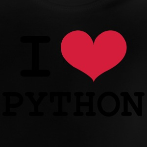 I Love Python [Developer / Geek] Camisetas - Camiseta bebé