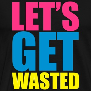 Let's Cat Wasted  Sweatshirts - Herre premium T-shirt