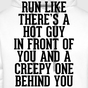 Run Like Hot Guy In Front  T-Shirts - Männer Premium Hoodie