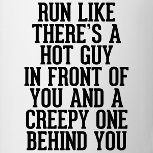 Run Like Hot Guy In Front  T-shirts - Mok