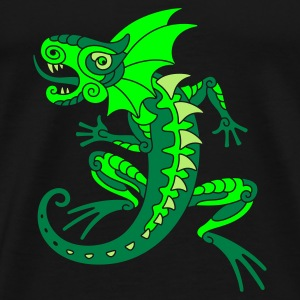Green Dragon - Mannen Premium T-shirt