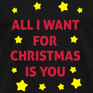 All I Want For Christmas Is You  Tröjor - Premium-T-shirt herr