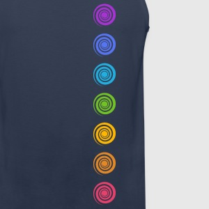 Spiral Chakras, Cosmic Energy Centers, Meditation T-Shirts - Men's Premium Tank Top