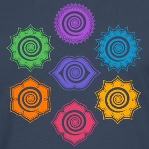 7 Chakras, Evolution, meditation, enlightenment Tee shirts - T-shirt manches longues Premium Homme
