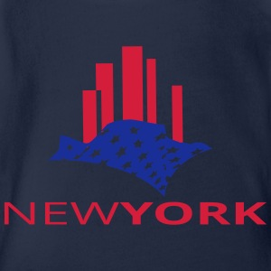 newyork Shirts - Organic Short-sleeved Baby Bodysuit