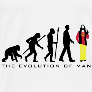 evolution_of_man_hippie_112014_a_3c Accessoires - Männer Premium T-Shirt