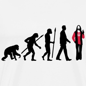 evolution_of_man_hippie_112014_b_2c Pullover & Hoodies - Männer Premium T-Shirt