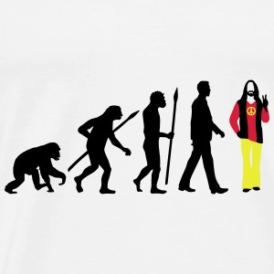 evolution_of_man_hippie_112014_b_3c Accessoires - Männer Premium T-Shirt