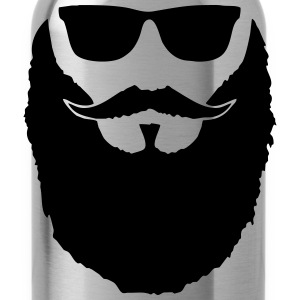 Hipster beard - Water Bottle