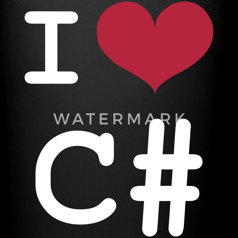 I Love C# [Developer / Geek] Tazze & Accessori - Tazza monocolore
