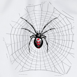 Black widow spider and web Mugs & Drinkware - Drawstring Bag