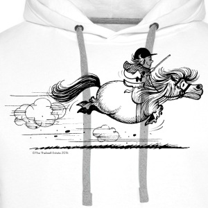 PonySprint Thelwell Cartoon T-Shirts - Men's Premium Hoodie