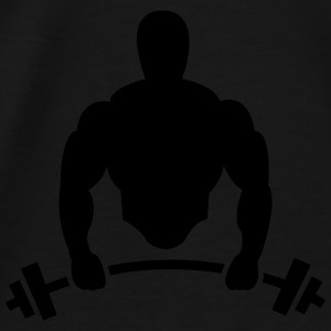 Body builder with barbell Bags & Backpacks - Men's Premium T-Shirt
