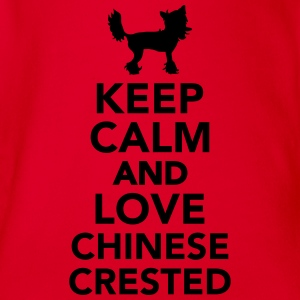 Keep calm and love Chinese Crested T-Shirts - Baby Bio-Kurzarm-Body