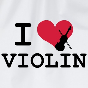 I Love Violin T-shirts - Gymtas