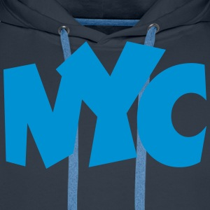 NYC T-Shirt blue - Men's Premium Hoodie