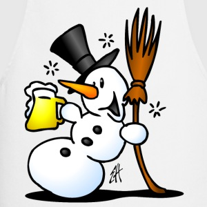 Snowman drinking T-Shirts - Cooking Apron