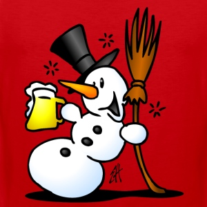 Snowman drinking T-Shirts - Men's Premium Tank Top