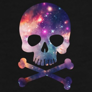 Pink / Purple Universe - Space - Galaxy Skull Caps & Hats - Men's Premium T-Shirt