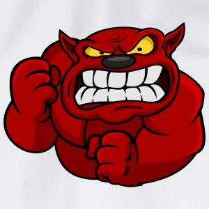 Red Orc Mascot Mugs & Drinkware - Drawstring Bag