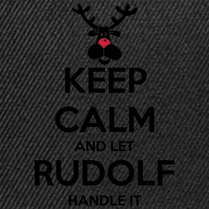 keep_calm_and_let_rudolf_handle_it_2c_bi T-Shirts - Snapback Cap