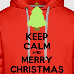 keep calm and merry christmas - Men's Premium Hoodie