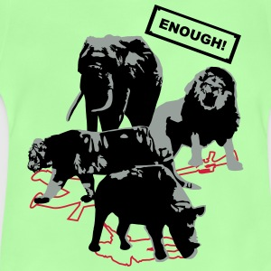 Wildlife - Enough - Rhino, elefante, tigre, león - Camiseta bebé