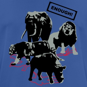 Wildlife - Enough - Rhino, elefante, tigre, león - Camiseta hombre transpirable