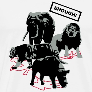 wildlife, lion, tiger, elephant, rhino - Men's Premium T-Shirt