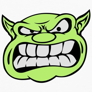 Angry Orc Mascot Head Mugs & Drinkware - Men's Premium Longsleeve Shirt