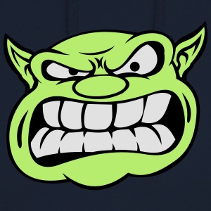 Angry Orc Mascot Head Accessories - Unisex Hoodie