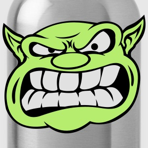 Angry Orc Mascot Head Accessories - Water Bottle