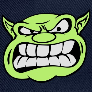 Angry Orc Mascot Head Accessories - Snapback Cap