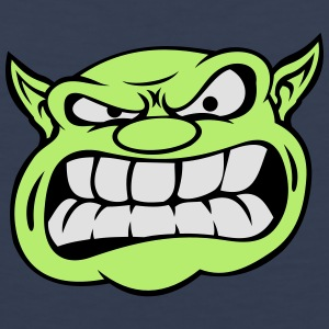 Angry Orc Mascot Head Accessories - Men's Premium Tank Top