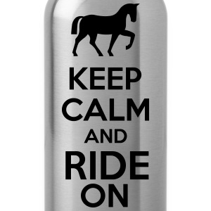 Keep Calm And Ride On Sportbekleidung - Trinkflasche