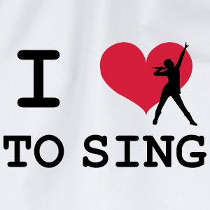 I Love To Sing T-shirts - Gymnastikpåse