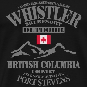 Whistler Ski Resort - Canada Manches longues - T-shirt Premium Homme