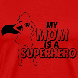 My mom is a Superhero Langarmshirts - Männer Premium T-Shirt