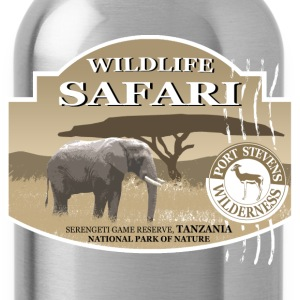Elephant - olifant - Afrika - safari T-shirts - Drinkfles