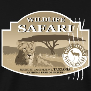Lion -  Safari - Africa Long Sleeve Shirts - Men's Premium T-Shirt