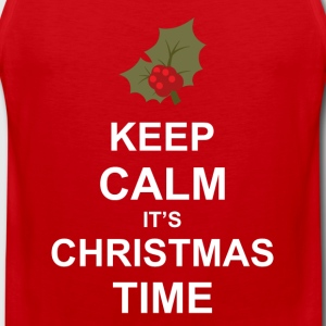 Keep Calm It's Christmas Time Long Sleeve Shirts - Men's Premium Tank Top