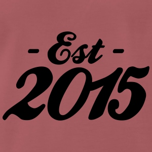 established 2015 baby födelse Accessoarer - Premium-T-shirt herr