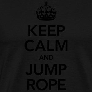 Keep Calm And Jump Rope Hoodies & Sweatshirts - Men's Premium T-Shirt
