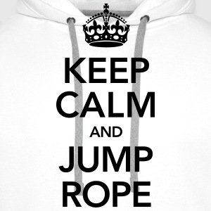 Keep Calm And Jump Rope Tee shirts - Sweat-shirt à capuche Premium pour hommes