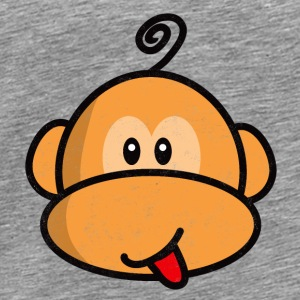 young monkey with tongue out vintage Débardeurs - T-shirt Premium Homme