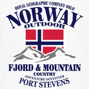 Norway - Fjord & Mountain Tee shirts - T-shirt manches longues Premium Homme