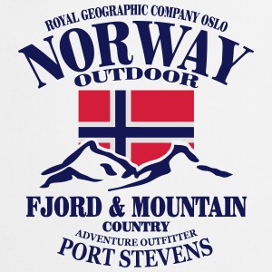 Norway - Fjord & Mountain Tee shirts - Tablier de cuisine