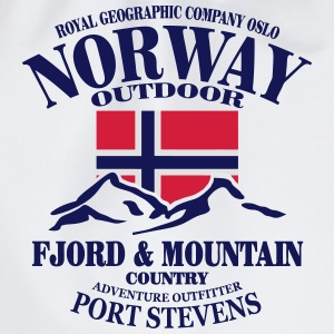Norway - Fjord & Mountain Tops - Drawstring Bag